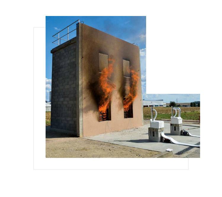 Stanowisko-badawcze-LEPIR_bezpieczenstwo pozarowe- elewacja -wytyczne sitp bariery ogniowe na elewacji w Niemczech